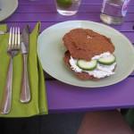 fairy food: Rohkostsandwich mit Frischkäse