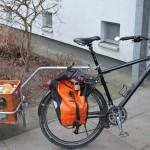 Einkauf mit dem Fahrrad