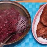 Veganes Entenbrustfilet und selbstgemachter Rotkohl